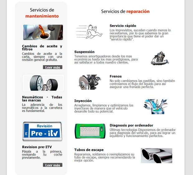 Diseño web Marbella. Taller mecánico en Marbella