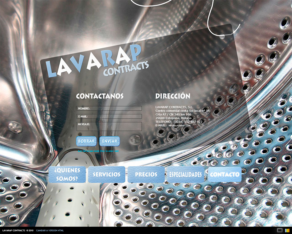 Marbella web design. Lavandería industrial en Estepona.