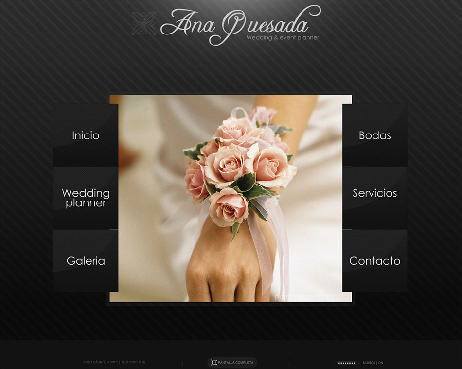 Marbella web design. Wedding planner.