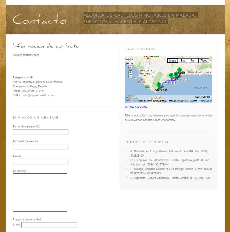 Diseño web Marbella. Alquiler de castillos hinchables en la costa del sol