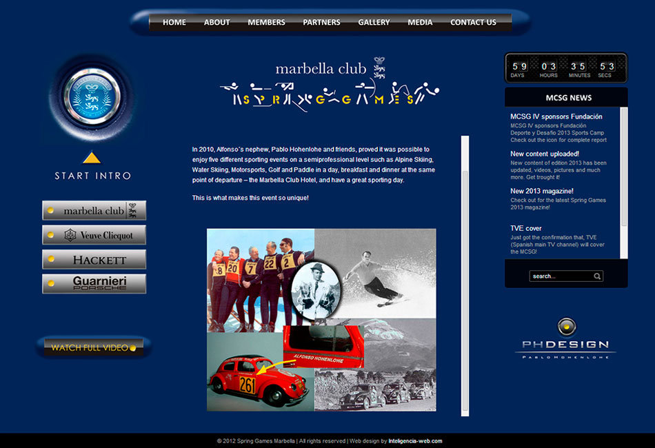 Marbella web design. Charity.