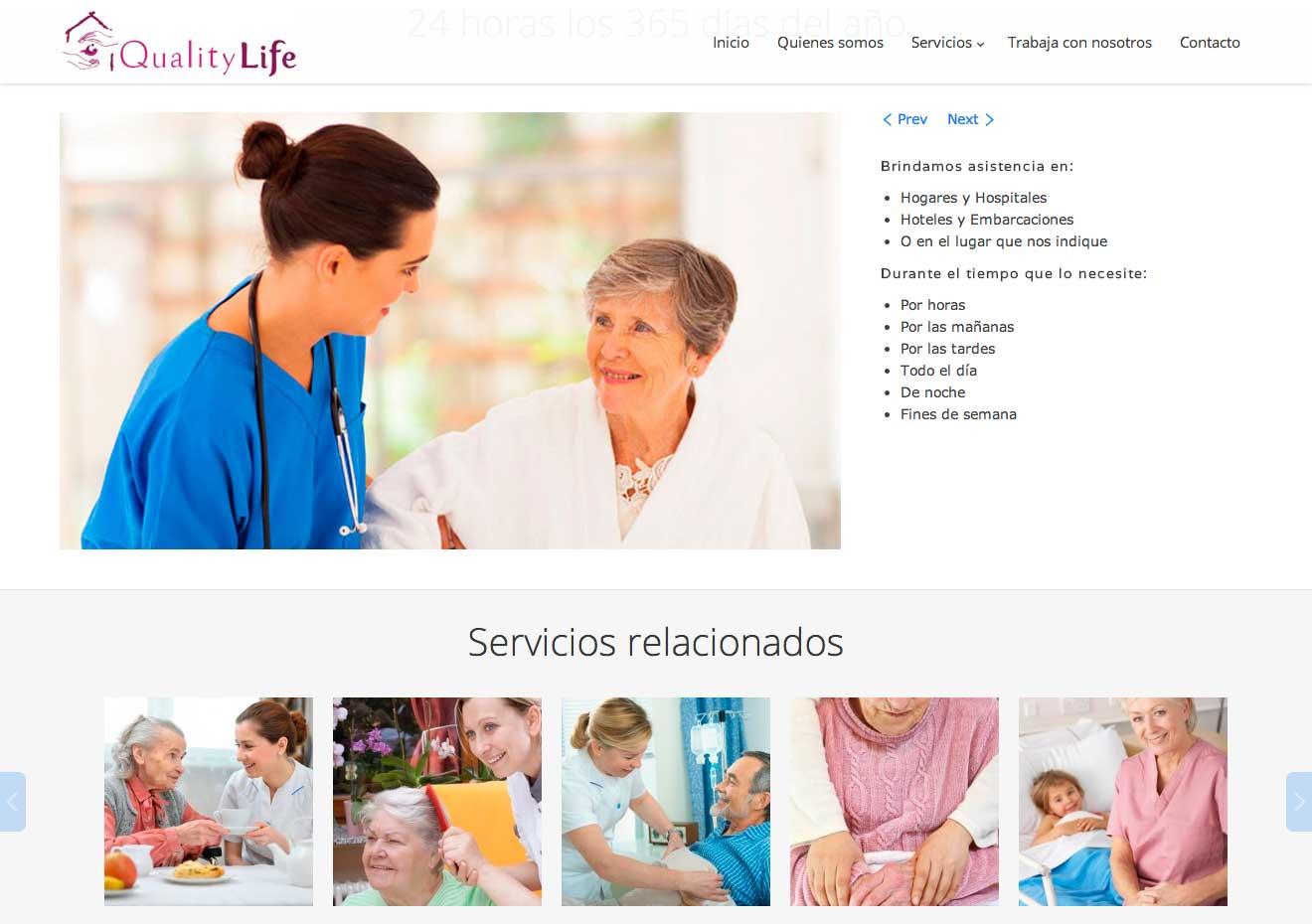 Diseño web Marbella. Servicios auxiliares de enfermeria