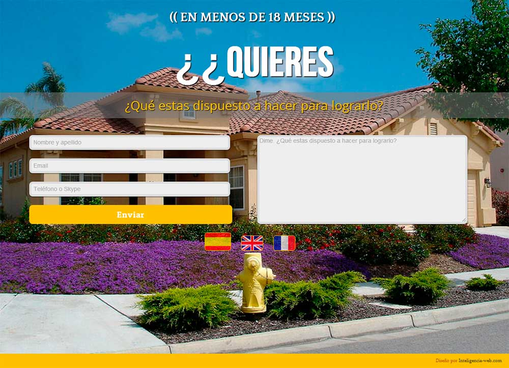 Diseño web Marbella. Landing Page