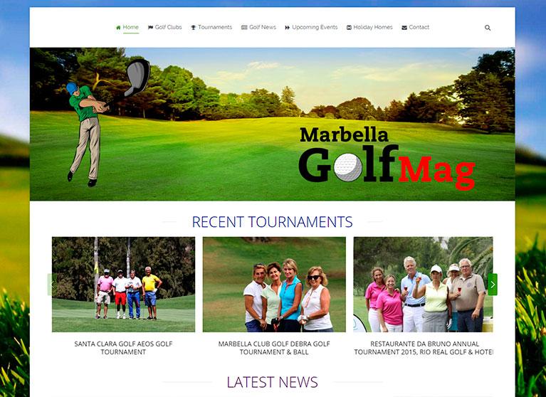 Revista online, Página principal