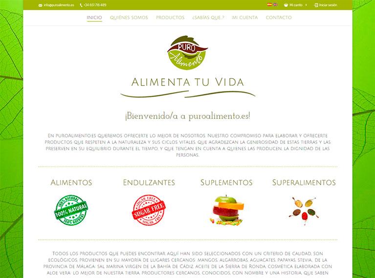 Online Shop, Página principal